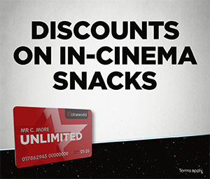Cineworld Unlimited Discounts on in-cinema snacks